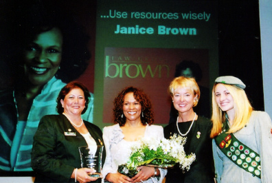 Janice P Brown recognized by local Girl Scouts